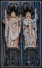 Figuren am Kölner Dom