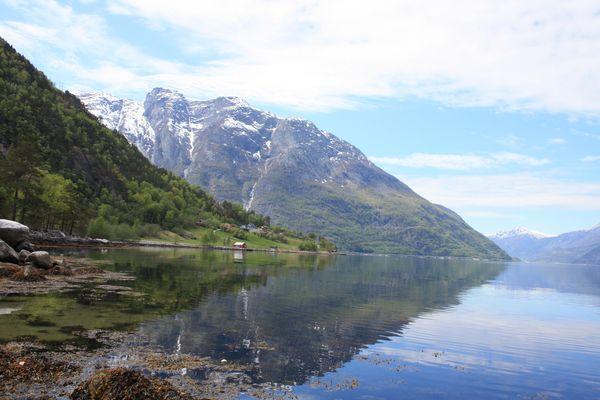 Fijord in Norwegen im Frühling
