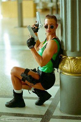 "Film Still: ""Tomb Raider 3"", staring Melanie"
