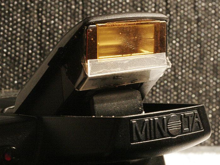 Filterhalter für eingebauten Blitz (Minolta A1)