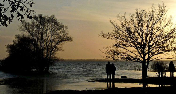 Fin de jour sur le lac.