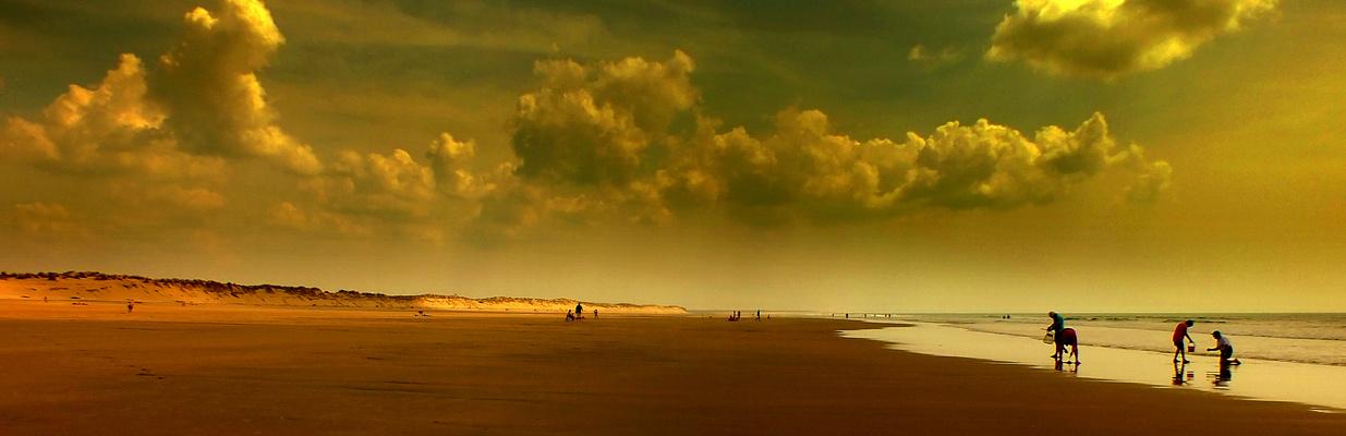 Fin de journée sur la plage de St-Trojan