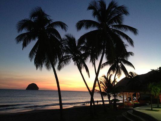 Fin de journée sur Le Diamant ( Martinique)