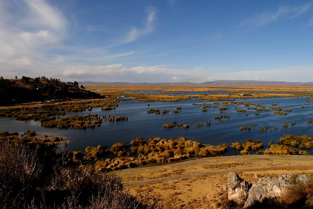 Fin de journée sur le lac Titicaca, Pérou