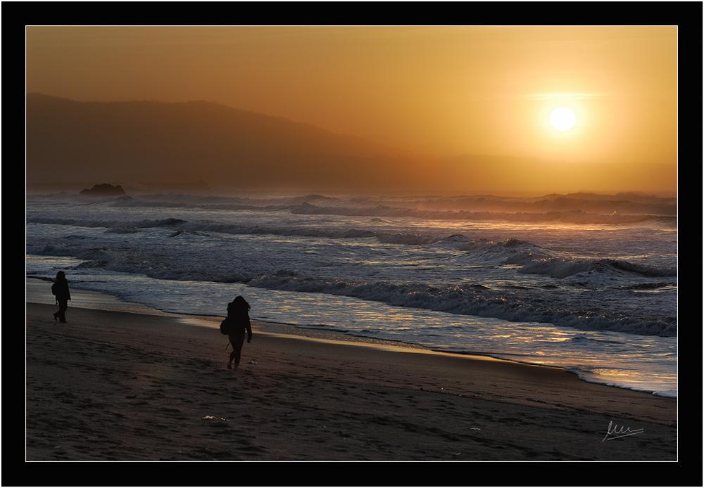Fin del día de playa
