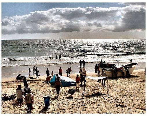 Fin du jour  Costa de Caparica   Portugal