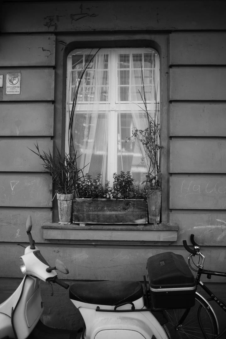 finestra con vespa