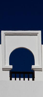 Finestra sul cielo in Bianco e blu