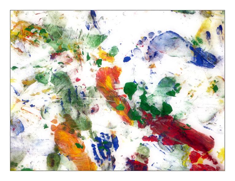 Fingerfarben: Ein Endergebnis