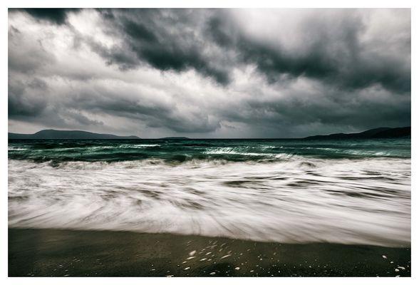 Finiki beach befor Thunderstorm
