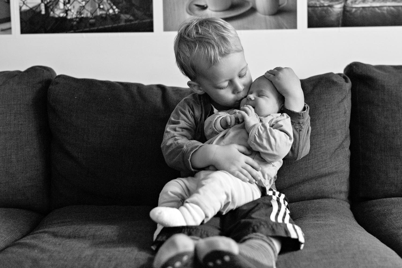 Finn und seine Schwester