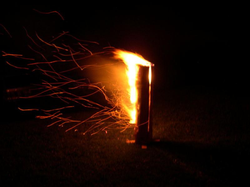 Finnenkerze oder Schwedenfeuer wie Du willst,auf jeden Fall gibt es eine gute Stimmung!
