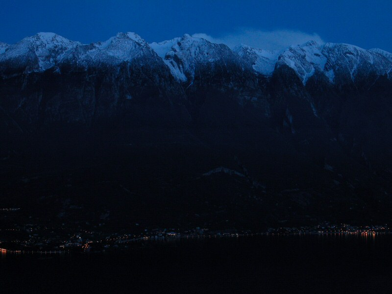 Finsterer See, Gipfel in der Dämmerung