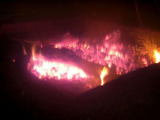 Fire at Gemen castle