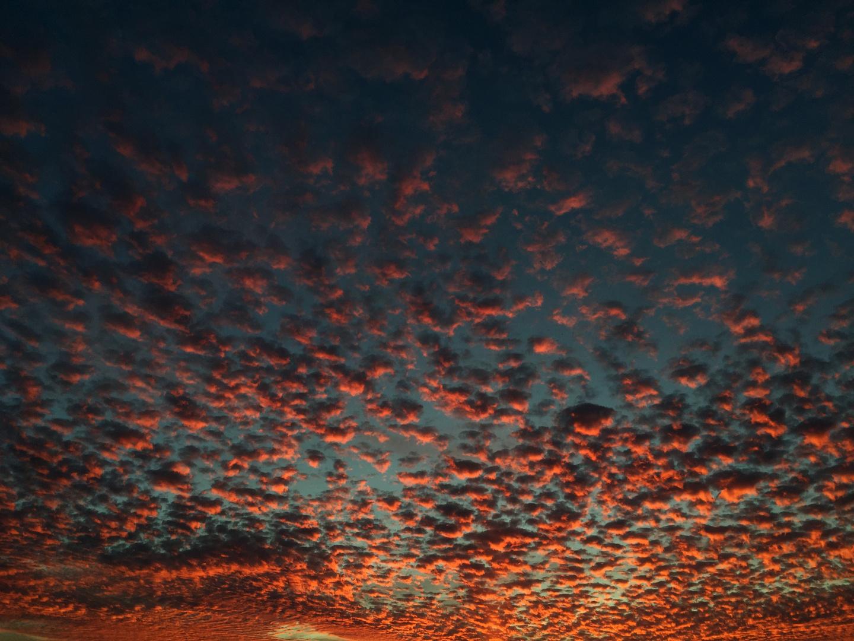Fire clouds.