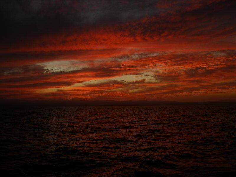Fire sky...