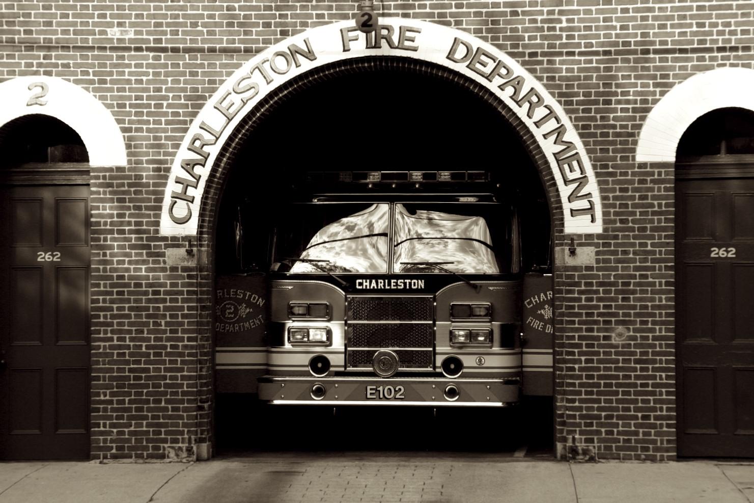 Fire Truck in Charleston, South Carolina