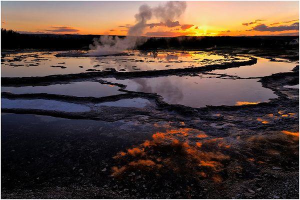Firehole Sunset