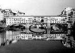 Firenze..Ponte Vecchio...e riflessi in b&w.....#