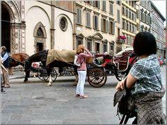 Firenze`s street.