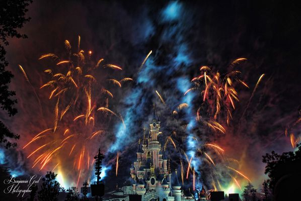 Firework on the castle