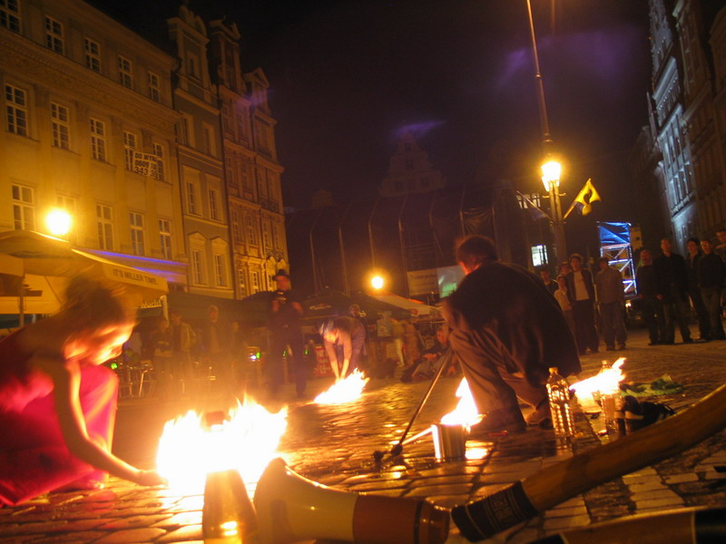First fire in Wroclaw