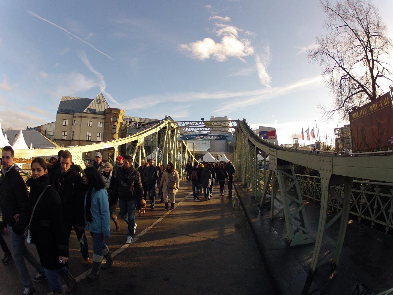 Fischauge : Drehbrücke in Köln