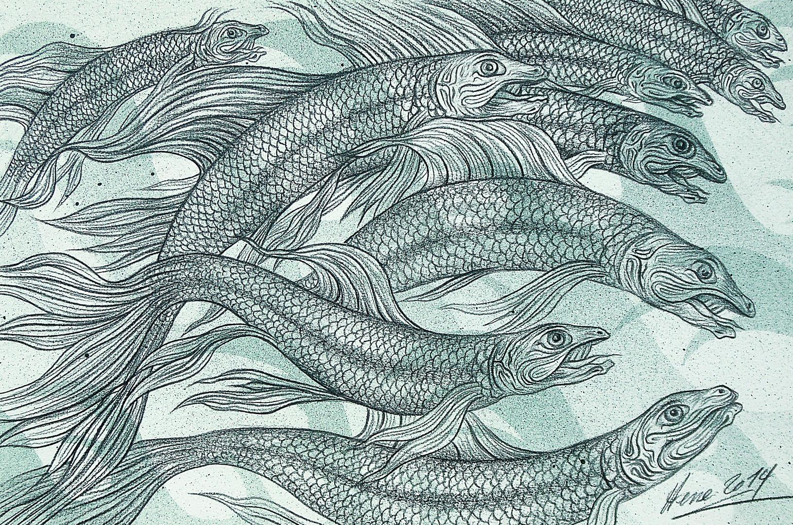 Fische grün