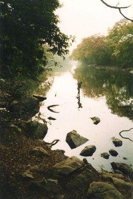 Fischer am Gashaka River