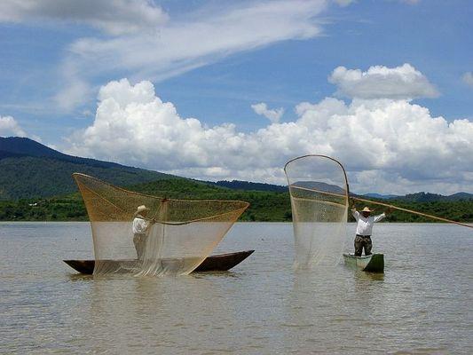 Fischer am Lago de Patzcuaro (Mexiko)