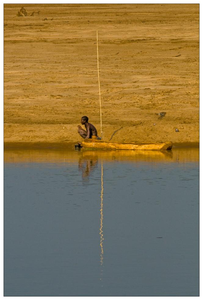 Fischer am Luangwa River