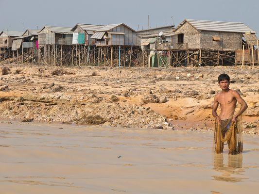 Fischer am Tonle Sap/Kambodscha