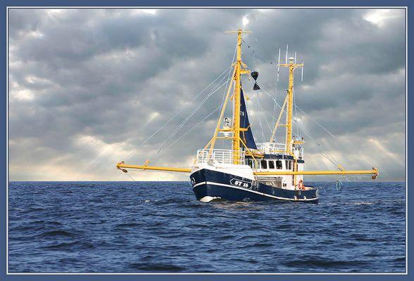 Fischer auf der Weser