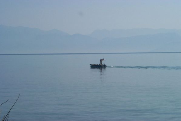 Fischer auf Korfu