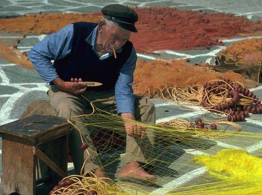 Fischer auf Paros