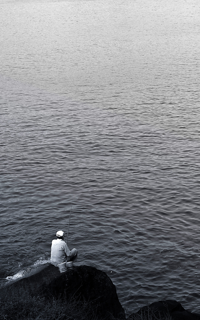 Fischer auf Santorini
