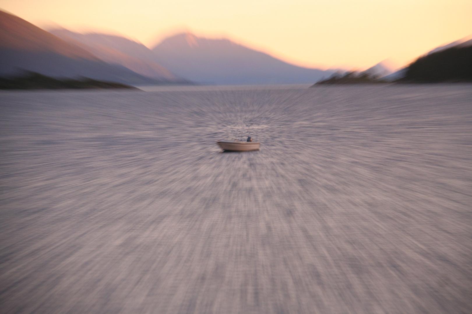 Fischer im Fjord
