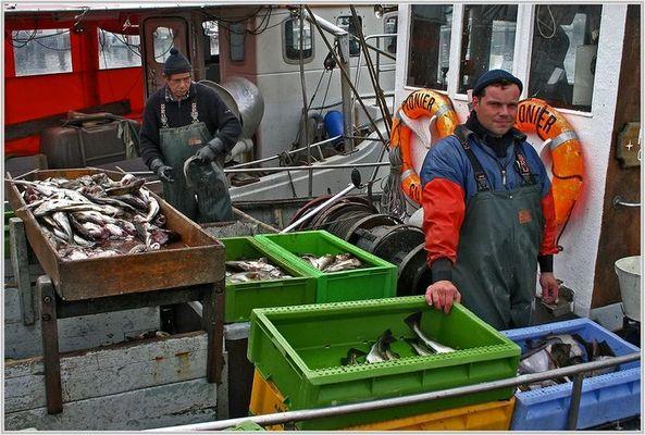 Fischer im Hafen