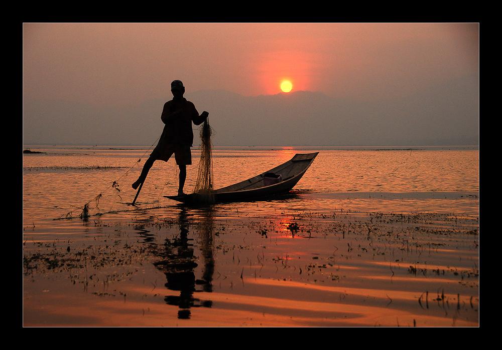 Fischer im Inle Lake