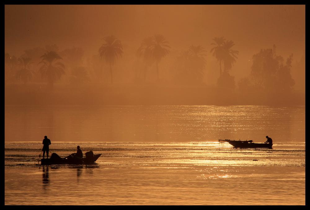 Fischer im Morgengrauen