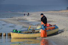 Fischer in Ölzeug
