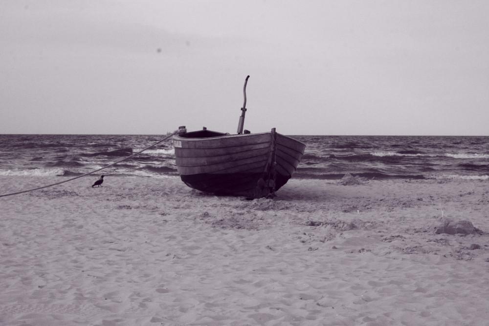 Fischerboot am Ahlbecker Strand