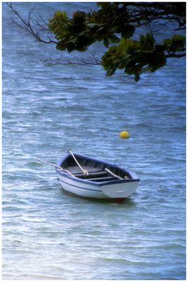 Fischerboot am Morgen