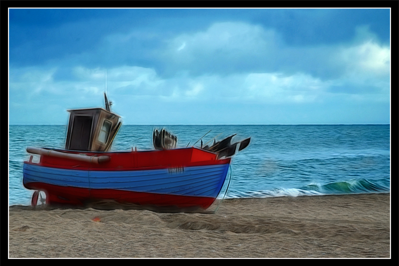 Fischerboot an der Nordsee
