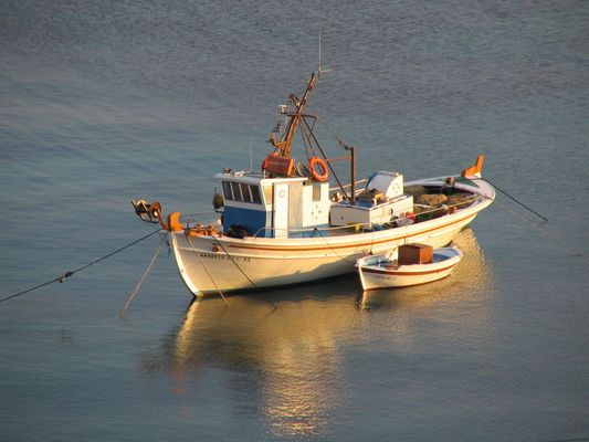 Fischerboot auf Mykonos