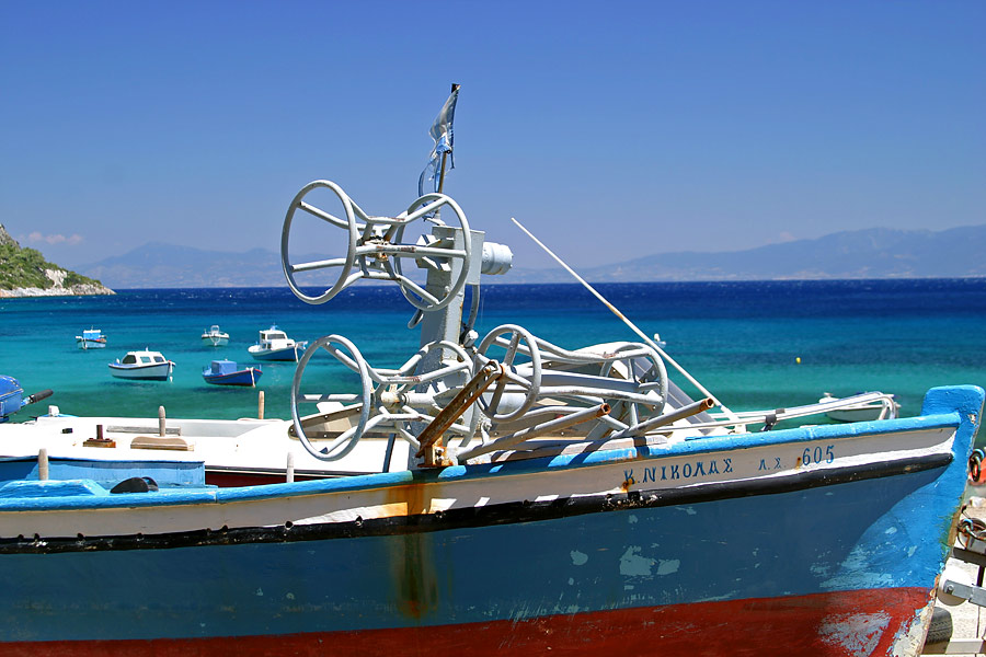 Fischerboot mit interessanter Technik