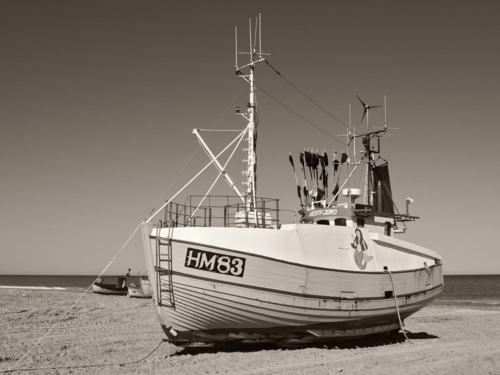Fischerboot, Thorup Strand