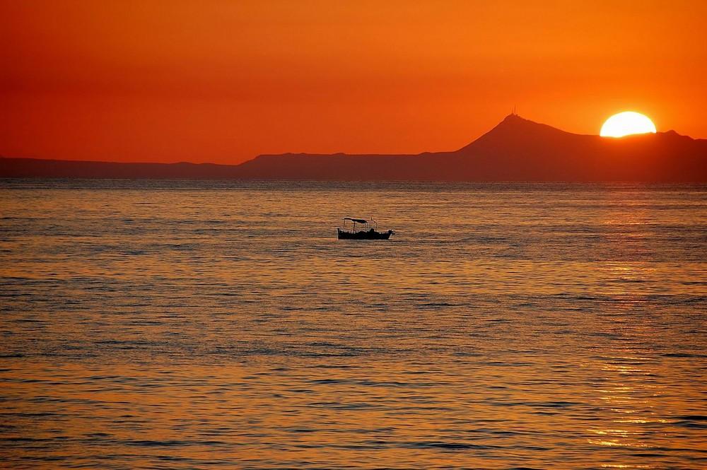 Fischerboot vor Kreta