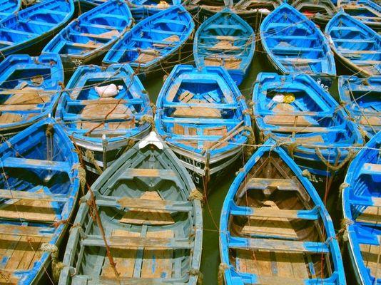 Fischerboote im Hafen von Agadir