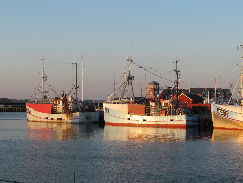 Fischerboote im Hafen von Bagenkop